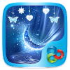 Blue Crystal Go Launcher Theme