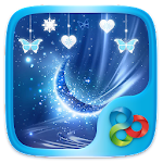Blue Crystal Go Launcher Theme Icon