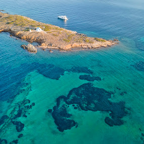 The Island by Zisimos Zizos - Landscapes Waterscapes ( drone, mavicpro, waterscape, greece, athens, aerial, seascape, djimavicpro, island )