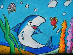 Photo: woz painting exercise: sea world.