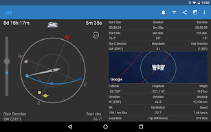 ISS Detector Satellite Tracker screenshot for Android