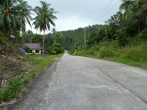 Photo: Ko Phangan motobiking around - road on the northwest coast