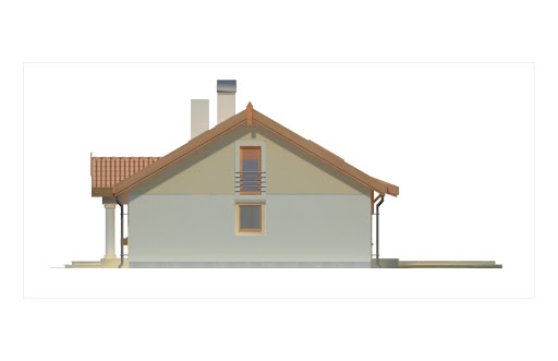 Sielanka 100 MDM wersja A bez garażu - Elewacja prawa
