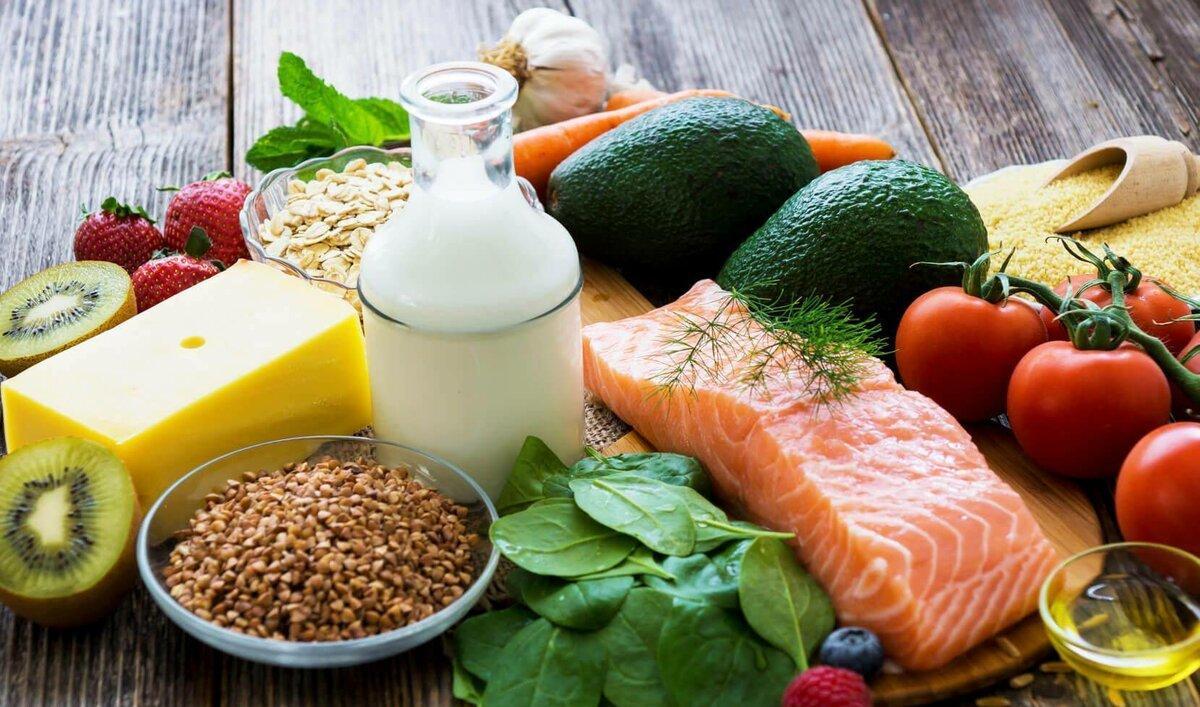набор продуктов здорового питания