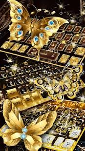 Shine Golden Butterfly Keyboard - náhled