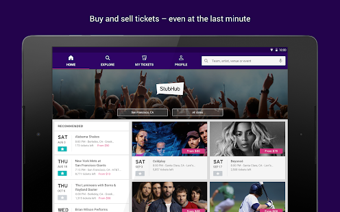 StubHub - Event tickets- screenshot thumbnail