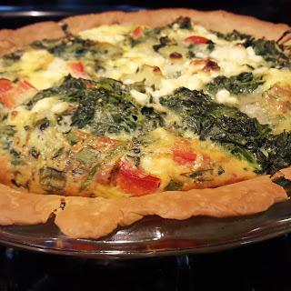 Feta, Spinach and Artichoke Quiche!.