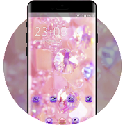 Theme for gradient pink diamond wallpaper icon