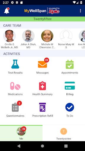 wellspan health screenshot 2