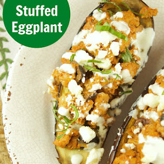 Greek Stuffed Eggplant