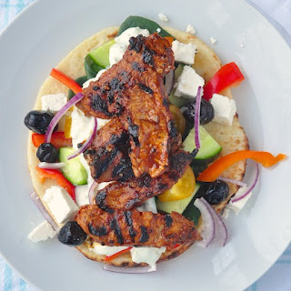 Pork Souvlaki with Lemon Oregano Tzatziki
