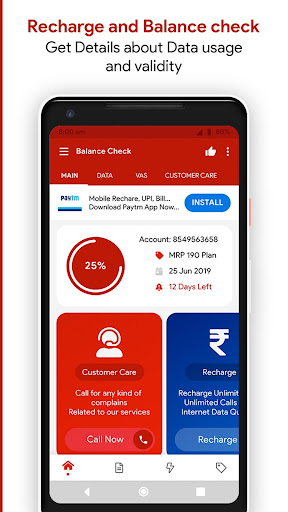 App for Recharge & Balance Check 2019 App Report on Mobile