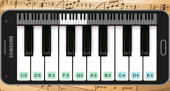 Online Piano - náhled