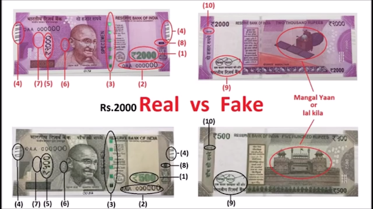 How To Check New 2000 Note Fake 3