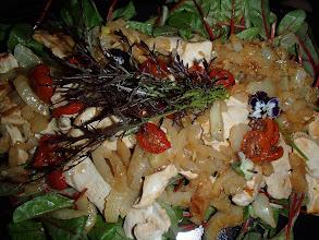 Photo: Salade de volaille caramélisée et fenouil