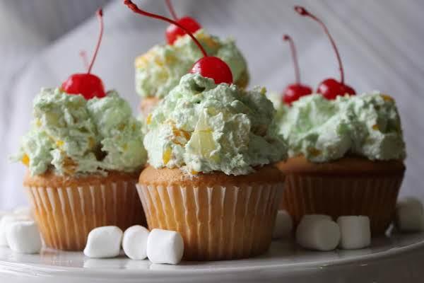 Pistachio Ambrosia Cupcakes Recipe