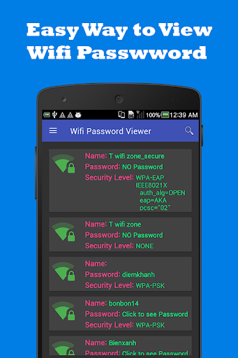Wifi Password Viewer Free 2.0.39 screenshots 1