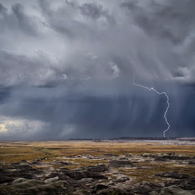 Painted Lightning by Scott Wood - Landscapes Weather ( clouds, lightning, desert, arizona, d7000, weather, storm chasing, storm, nikon, rain,  )