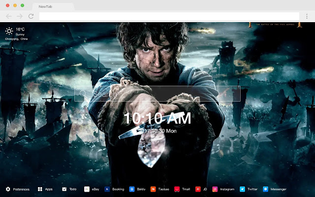 Hobbit Pop Movie HD Wallpapers New Tabs Theme