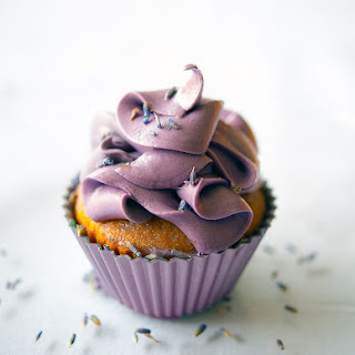 Lavender and Vanilla Cupcake.