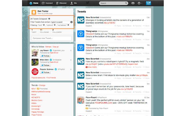 Tweet Filter - Simple filter for Twitter