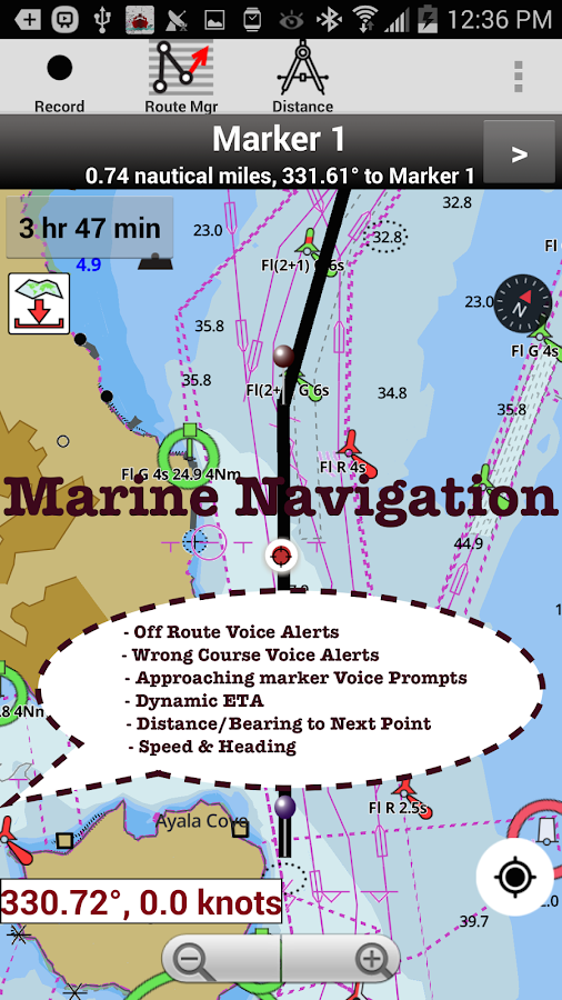 Canada:Marine Navigation Charts &Lake Fishing Maps- screenshot