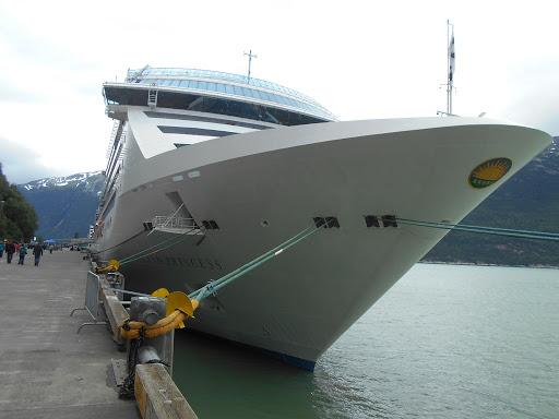 Island Princess docked in Skagway, Alaska