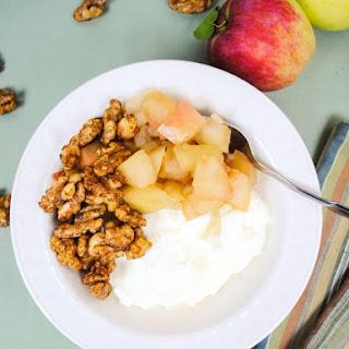 Fall Apple Yogurt Bowls with Honey Toasted Walnuts