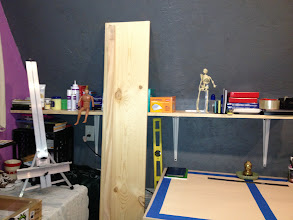 Photo: Drawing table + shelf.
