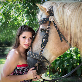 by April Sadler - People Fashion ( #model #woman#horse #beauty #nature )