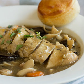 Easy Slow-Cooker Chicken Marsala.
