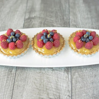 No Bake Berry Lemon Tartlets.