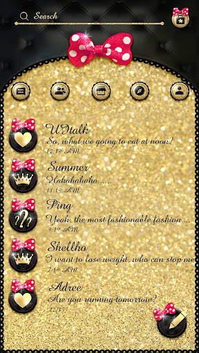 (FREE) GO SMS BOWKNOT THEME Screenshot