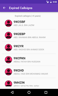 Malaysian Hamradio Callsign DB- screenshot thumbnail