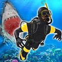 Scuba Diving Simulator: Underwater Shark Hunting icon