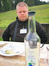 Photo: Empty plate and empty Tuica bottle (strong Romanian plum brandy) - how depressing!