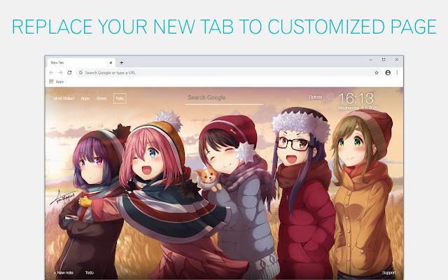 Yuru Camp Wallpaper HD Yuru Camp Anime New Tab