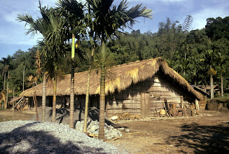 Photo: The grass house for the extended family of the indigenous Taiwan tribal people, pushed to the mountains by the Chinese Han.