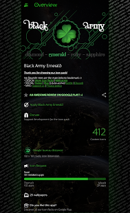 Black Army Emerald - Icon Pack - Fresh dashboard Screenshot
