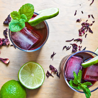 Hibiscus Flower & Mint Juice