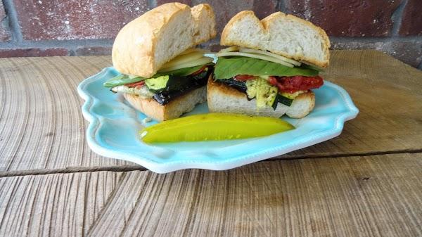 Roasted Garden Veggie Sandwich Recipe