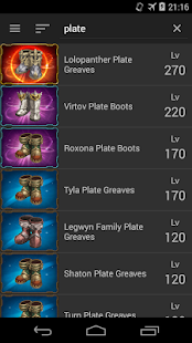 Equipment List Tree of Savior - náhled