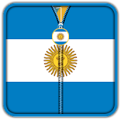 Argentina Flag Zipper UnLock APK for Bluestacks