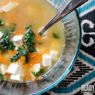Tofu Miso Soup with Ginger Carrot Broth Recipe