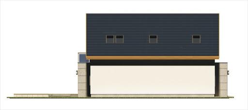Alamo wersja B z pojedynczym garażem - Elewacja lewa