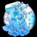 azure mild sapphire floret icon
