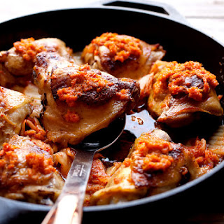 Kimchi Chicken Thighs.