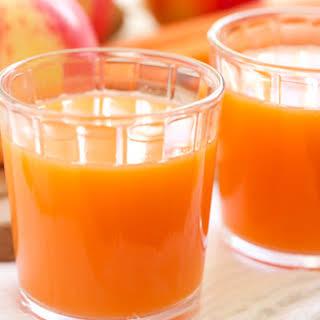 Skin Smoothing Carrot Apple Ginger Juice.