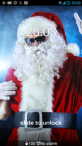 android GO Locker Santa Claus Theme Screenshot 2