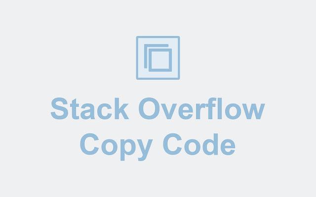 Stack Overflow Copy Code